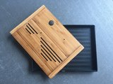 Tea tray - Bamboo wave 250x190 black_