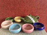 Tea set for 6 - cracked ice - 6 colors_