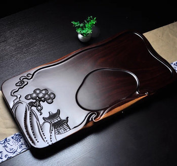 Tea tray - temple & pine - ebony (blackwood) 700x350x45