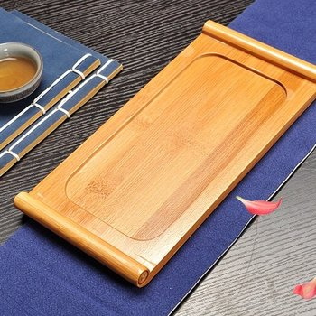 Tea tray - bamboo - flat board (S)