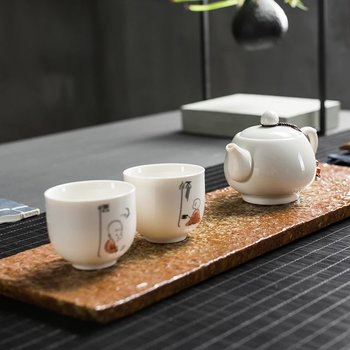 Tea set for 2 - little monk