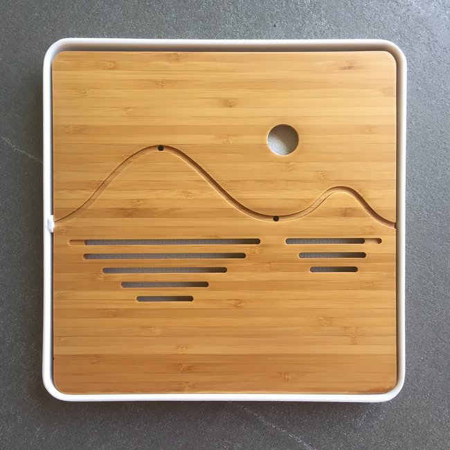 Tea tray - Bamboo wave 250x250 white