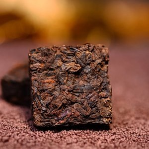 Ripe Pu'er tea 2003 golden cubes 7g