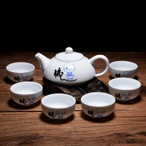 "Tea set for 6 - ""Fo"" little monk"